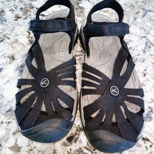 New Keen women's Rose sandal size 10 black& gray